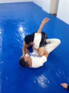 Hayakawa sensei working a shoulder lock